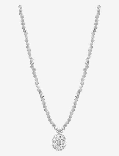 Serenity Stone Necklace - halskæder med vedhæng - grey/silver
