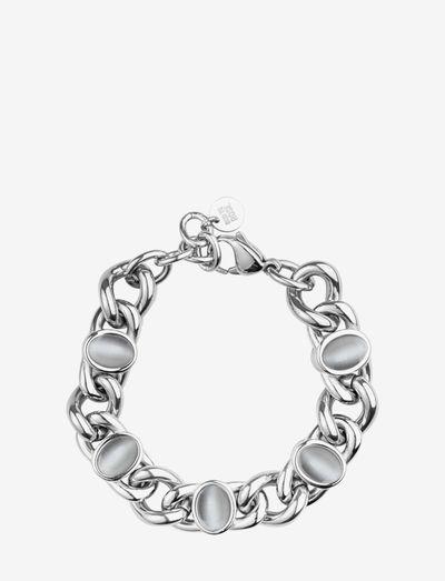 Retro Bracelet - dainty - grey/silver