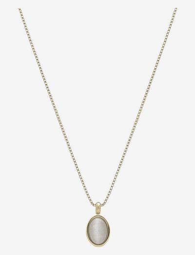 Retro Slider Necklace - halskæder med vedhæng - grey/gold