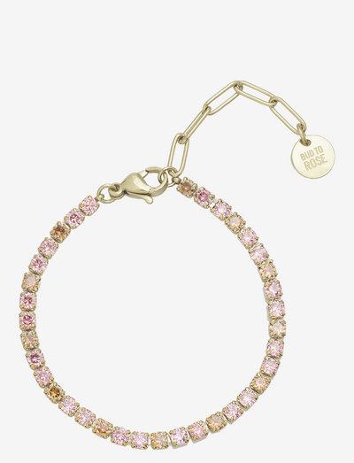 Ice Tennis Bracelet - dainty - pinkgold