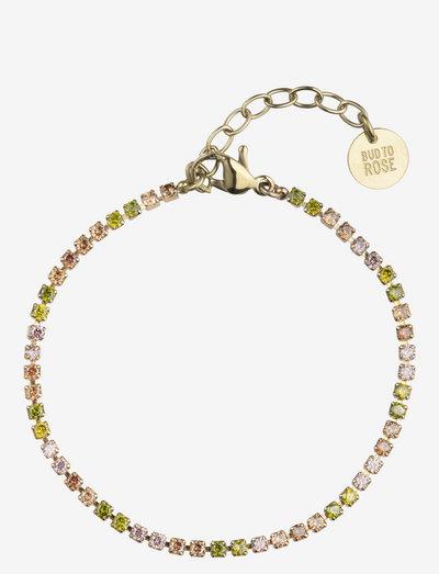 Ice Tennis Bracelet - dainty - mix/gold