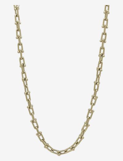 Bead U-Link Necklace - halskæder - gold