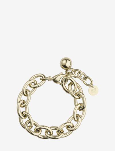 Globe Chunky Chain Necklace - halskæder - gold