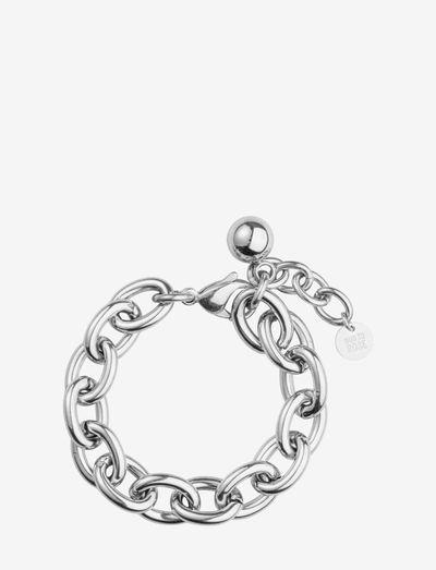 Globe Chunky Bracelet - dainty - silver
