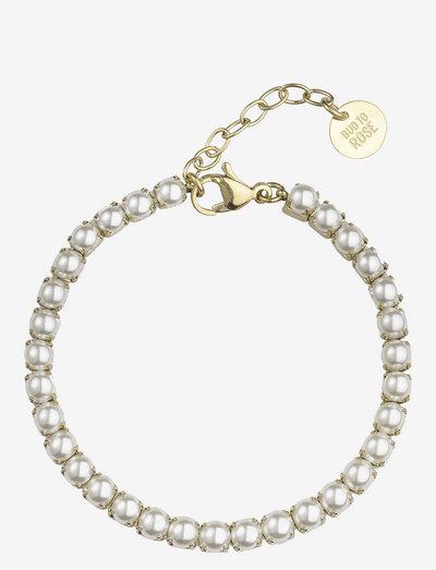 Pearl Tennisbracelet - dainty - gold