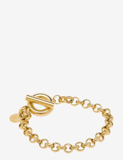 Rolo Chain Bracelet - dainty - gold