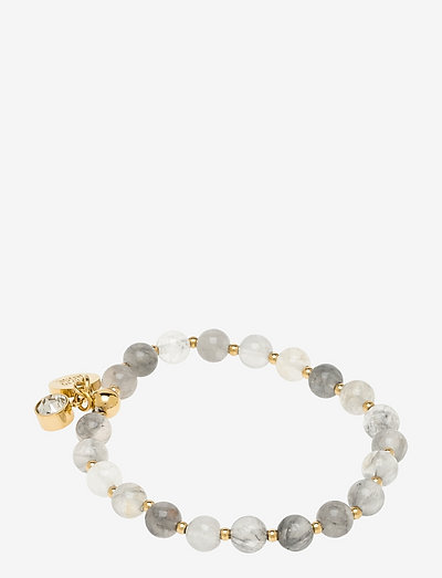 Beverly Bracelet - dainty - grey/gold