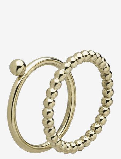 Globe Duo Ring - ringe - gold
