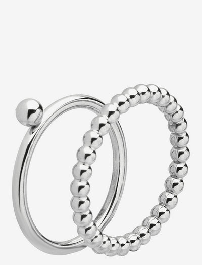 Globe Duo Ring - ringe - silver