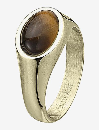 Retro Ring - ringe - brown/gold