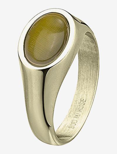 Retro Ring - ringe - green/gold