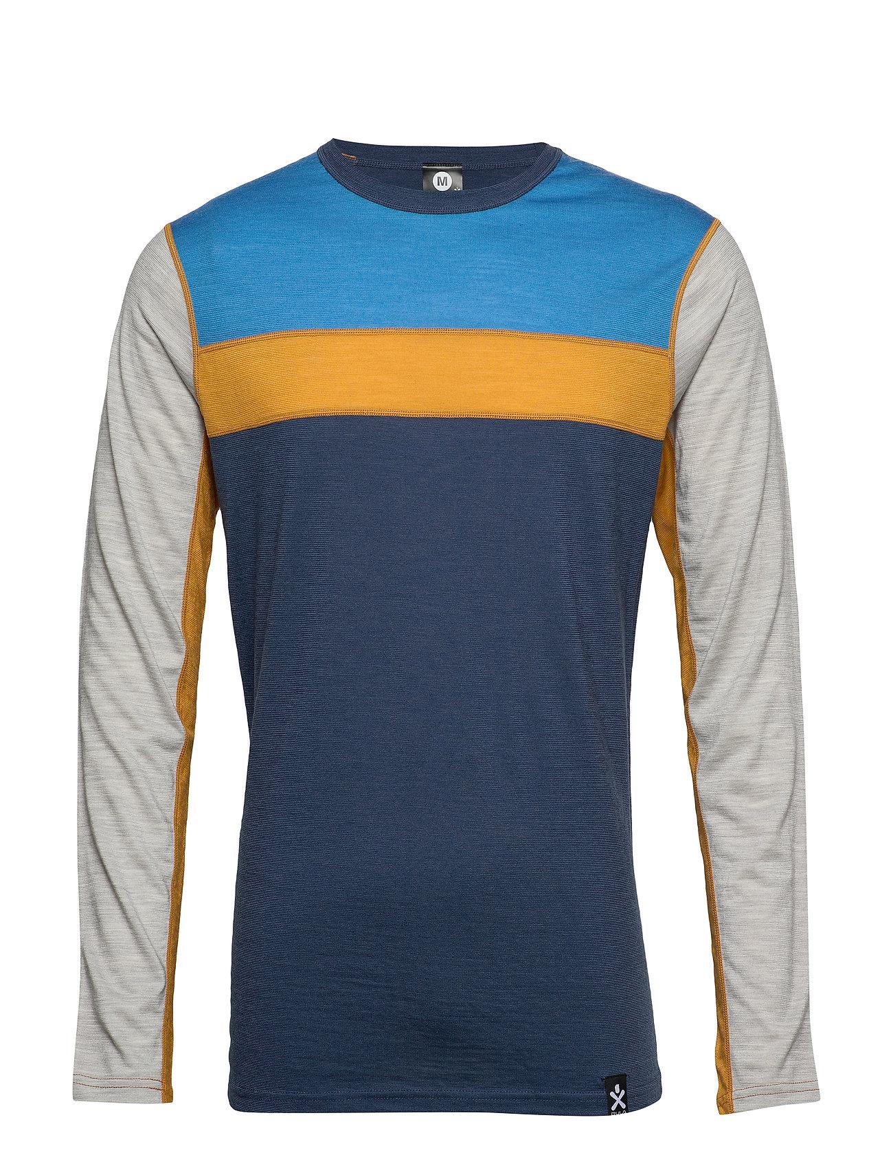 Image of Retro Wool Crew Base Layer Tops Blå Bula (3406243091)