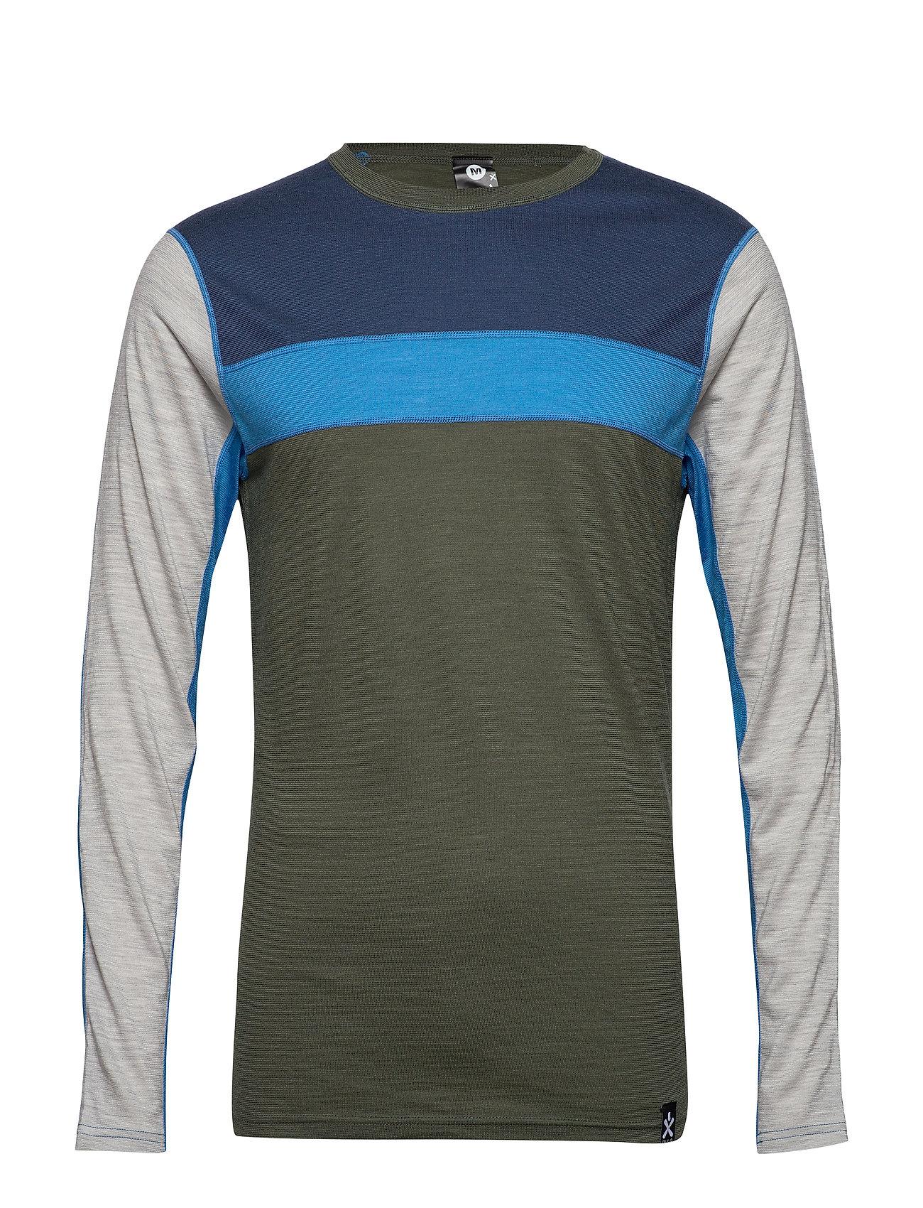 Image of Retro Wool Crew Base Layer Tops Blå Bula (3406243095)