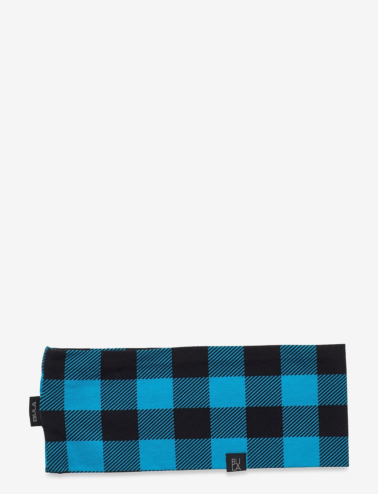 Bula - COTTON CHECK HEADBAND - hårbånd - blue - 0