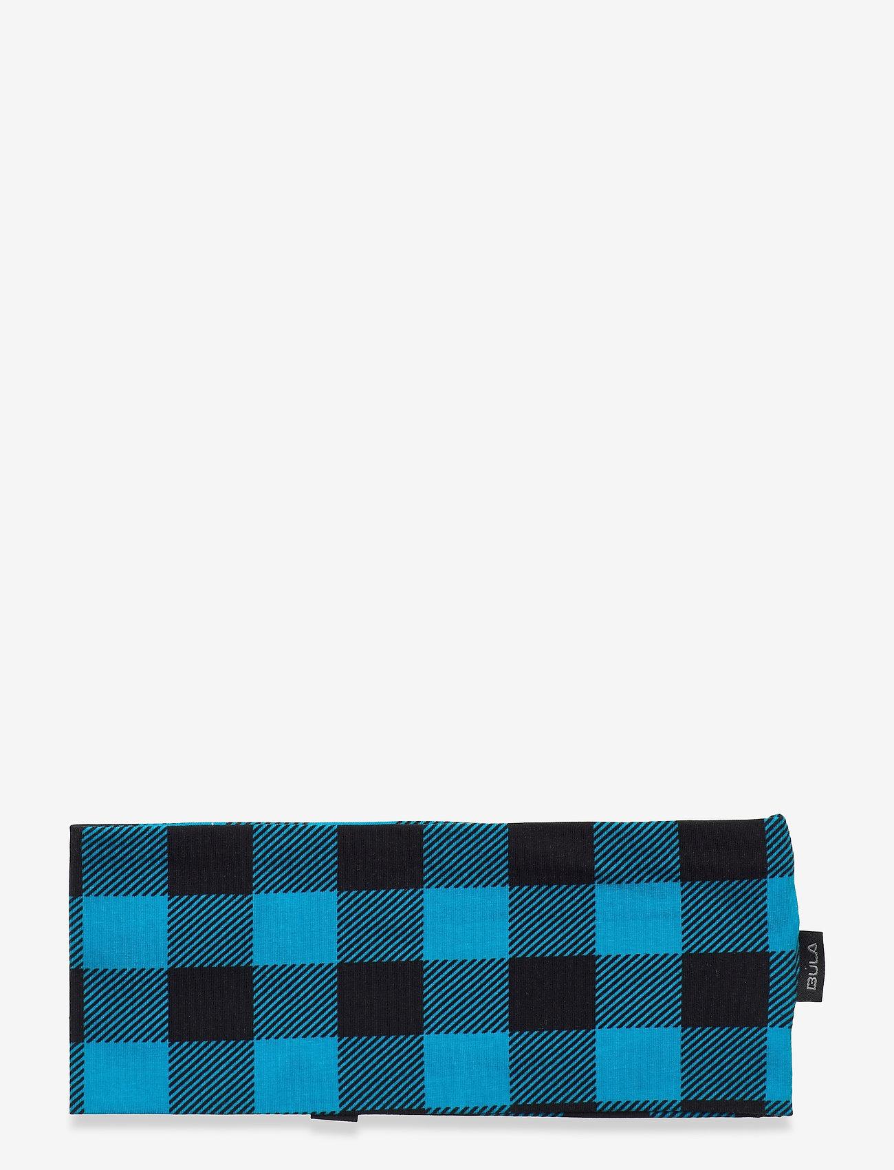 Bula - COTTON CHECK HEADBAND - hårbånd - blue - 1