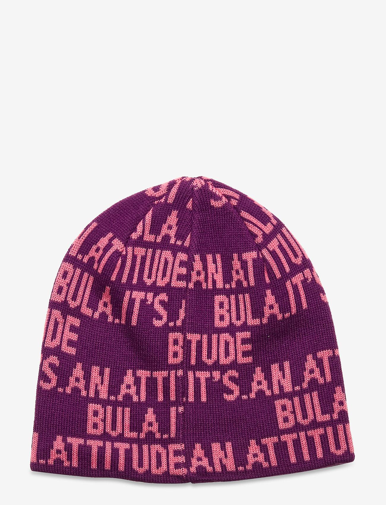 Bula - JR WORD BEANIE - mützen - purple - 1