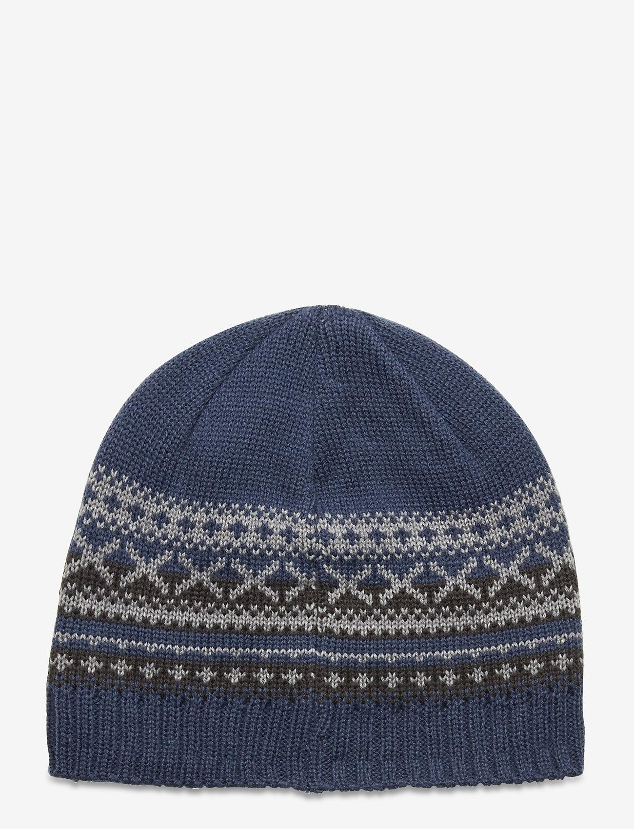 Bula - Trad Wool Beanie - mützen - denim - 1