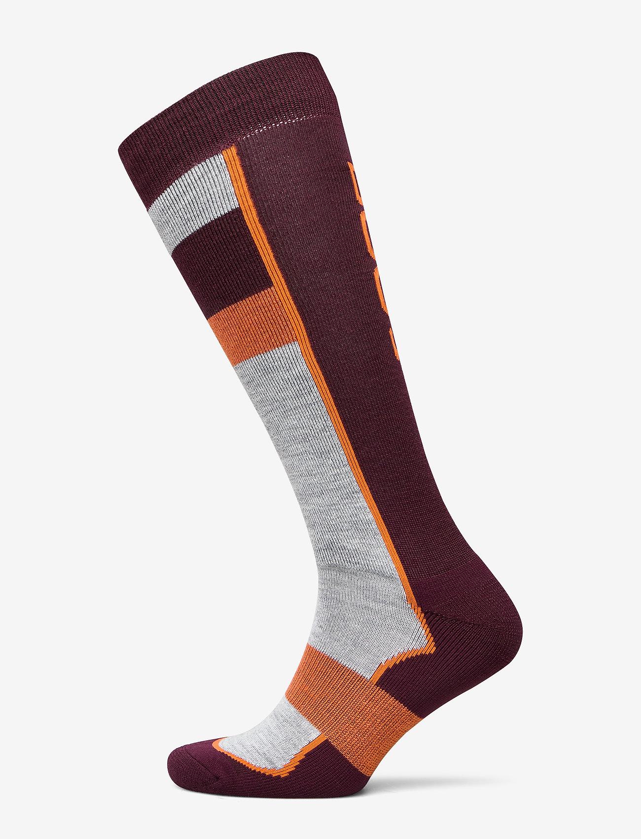 Bula - Retro Ski Sock - regular socks - burgnd - 0