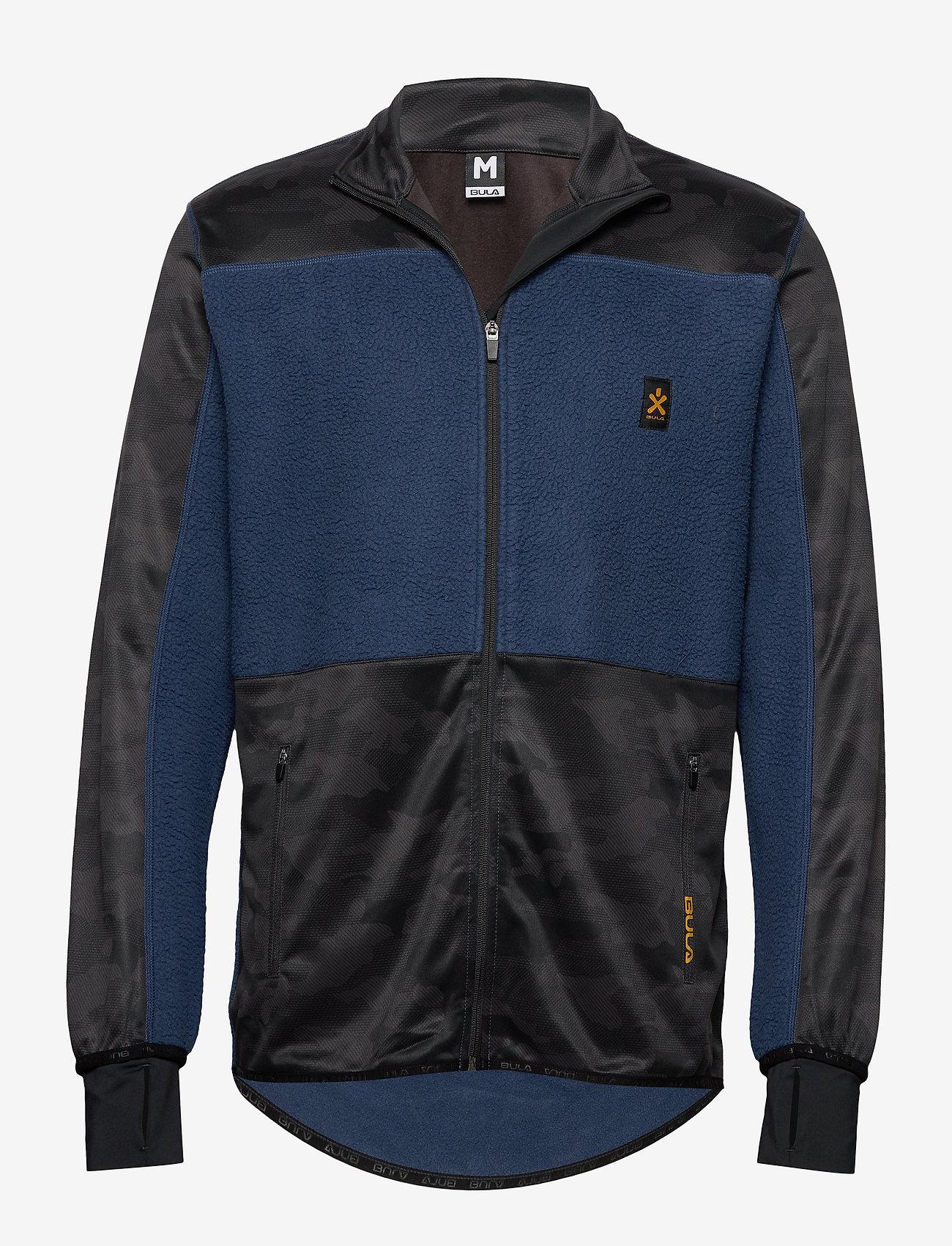 Bula - Camo Fleece Jacket - fleece midlayer - denim - 0