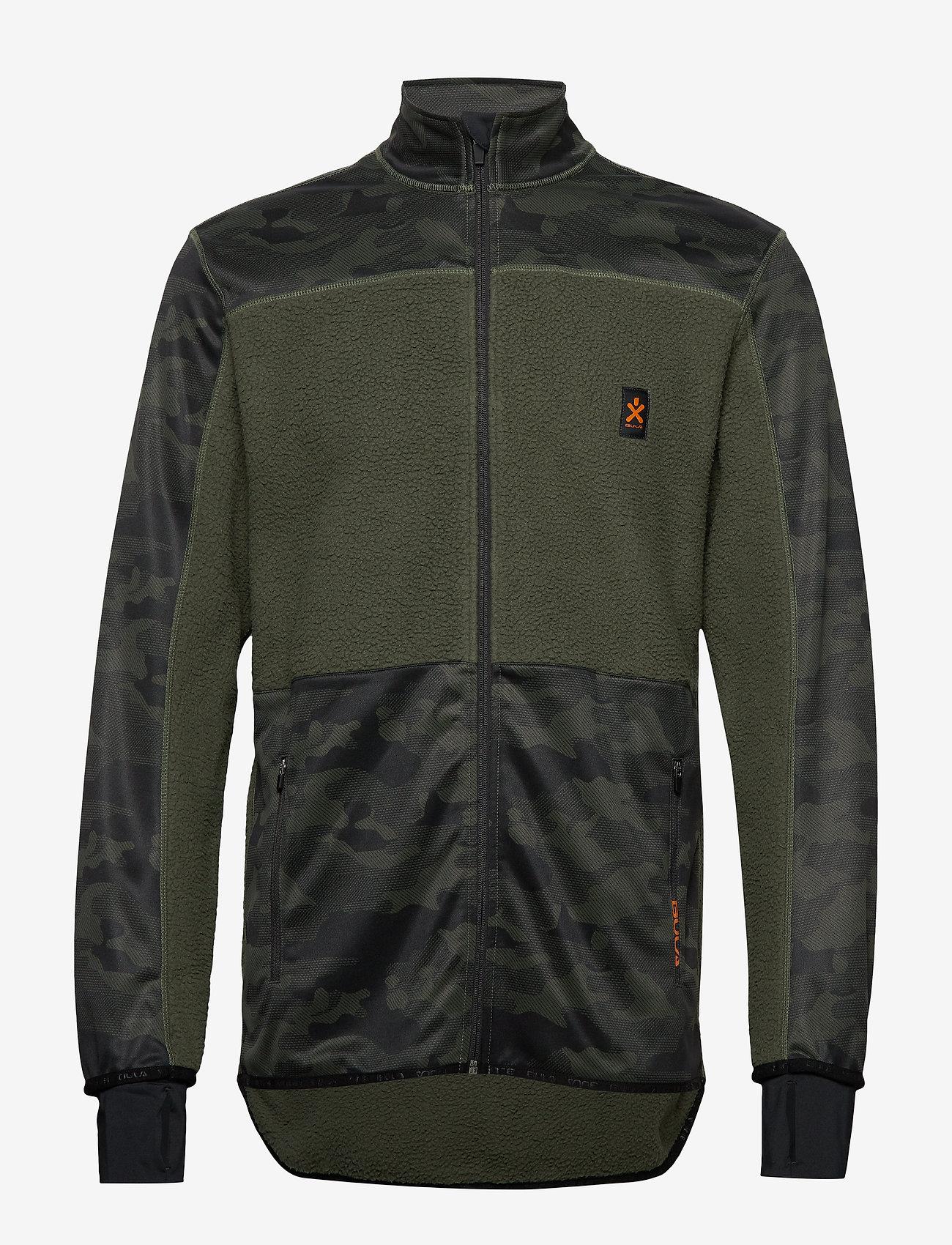 Bula - Camo Fleece Jacket - fleece midlayer - dolive - 1