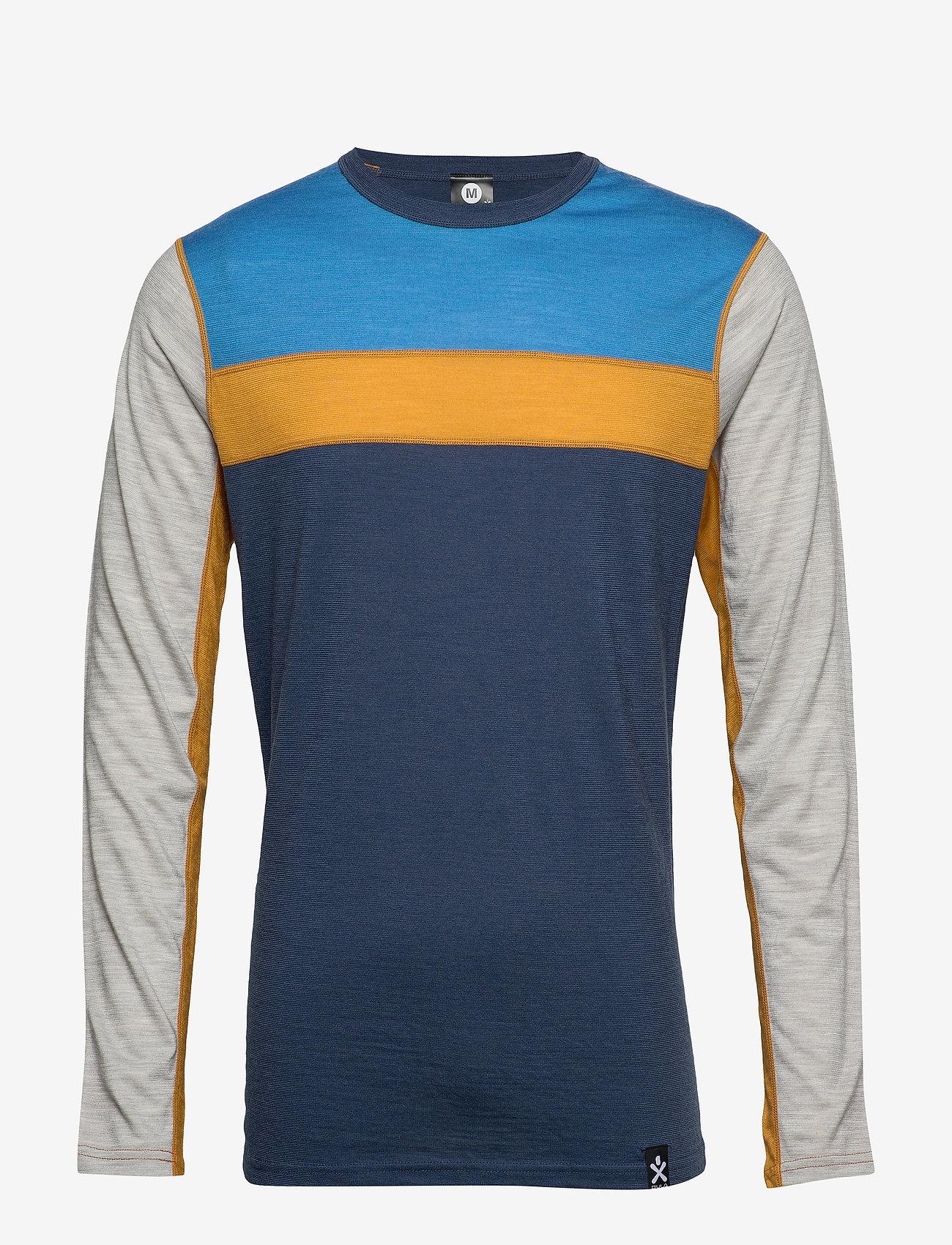 Bula - Retro wool Crew - tops - denim - 0