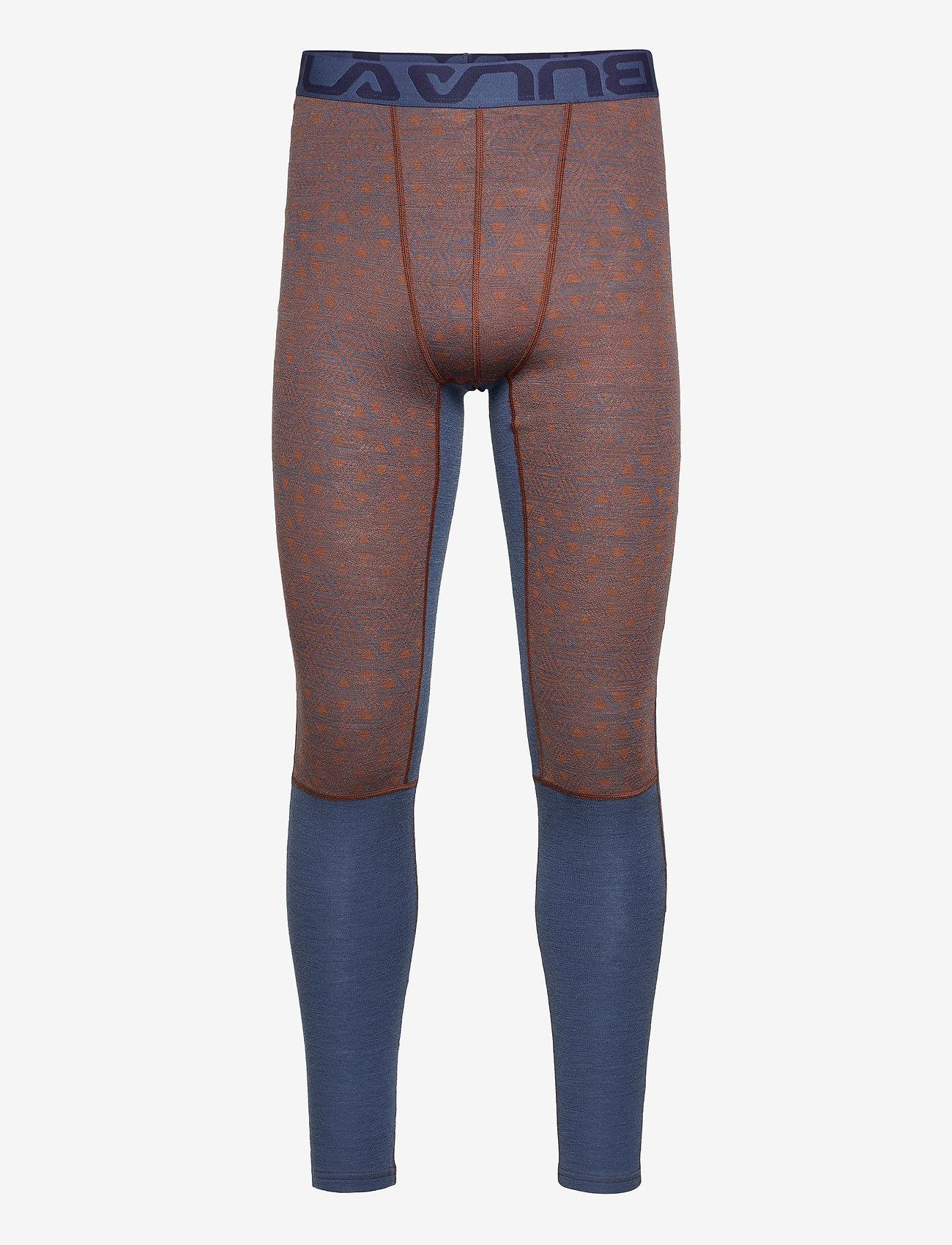 Bula - Geo Merino Wool Pants - funkionsunterwäsche - hosen - walnut - 0