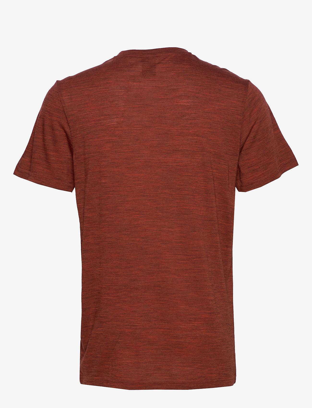 Bula - Pacific Solid Merino Wool Tee - tops - brick - 1
