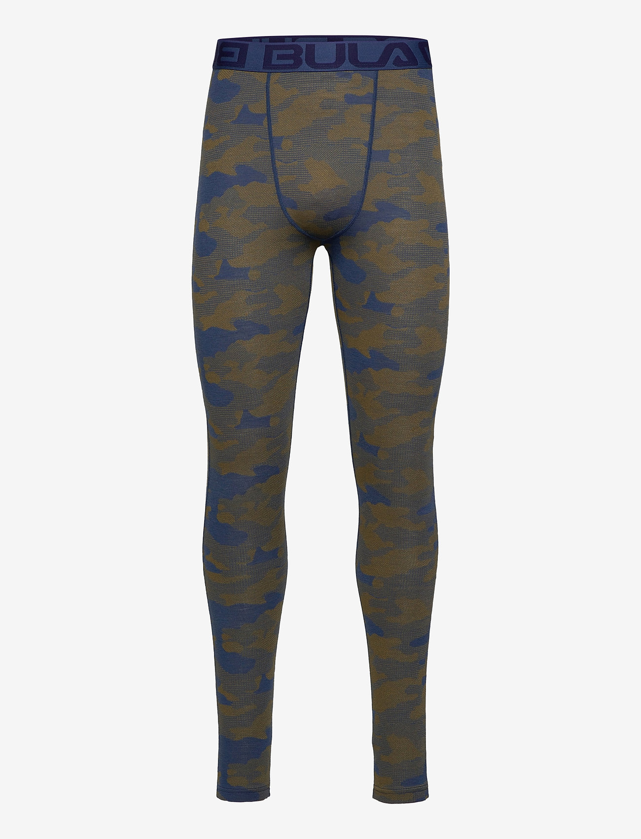 Bula - Camo Merino Wool Pants - funkionsunterwäsche - hosen - denim - 0