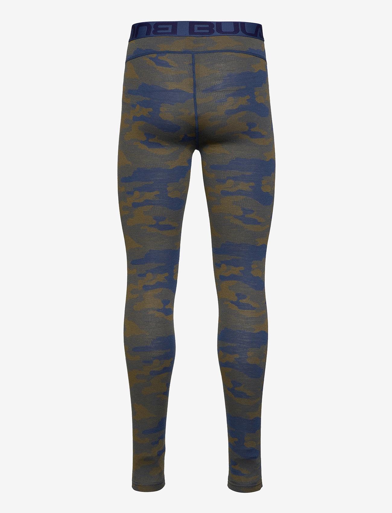 Bula - Camo Merino Wool Pants - funkionsunterwäsche - hosen - denim - 1