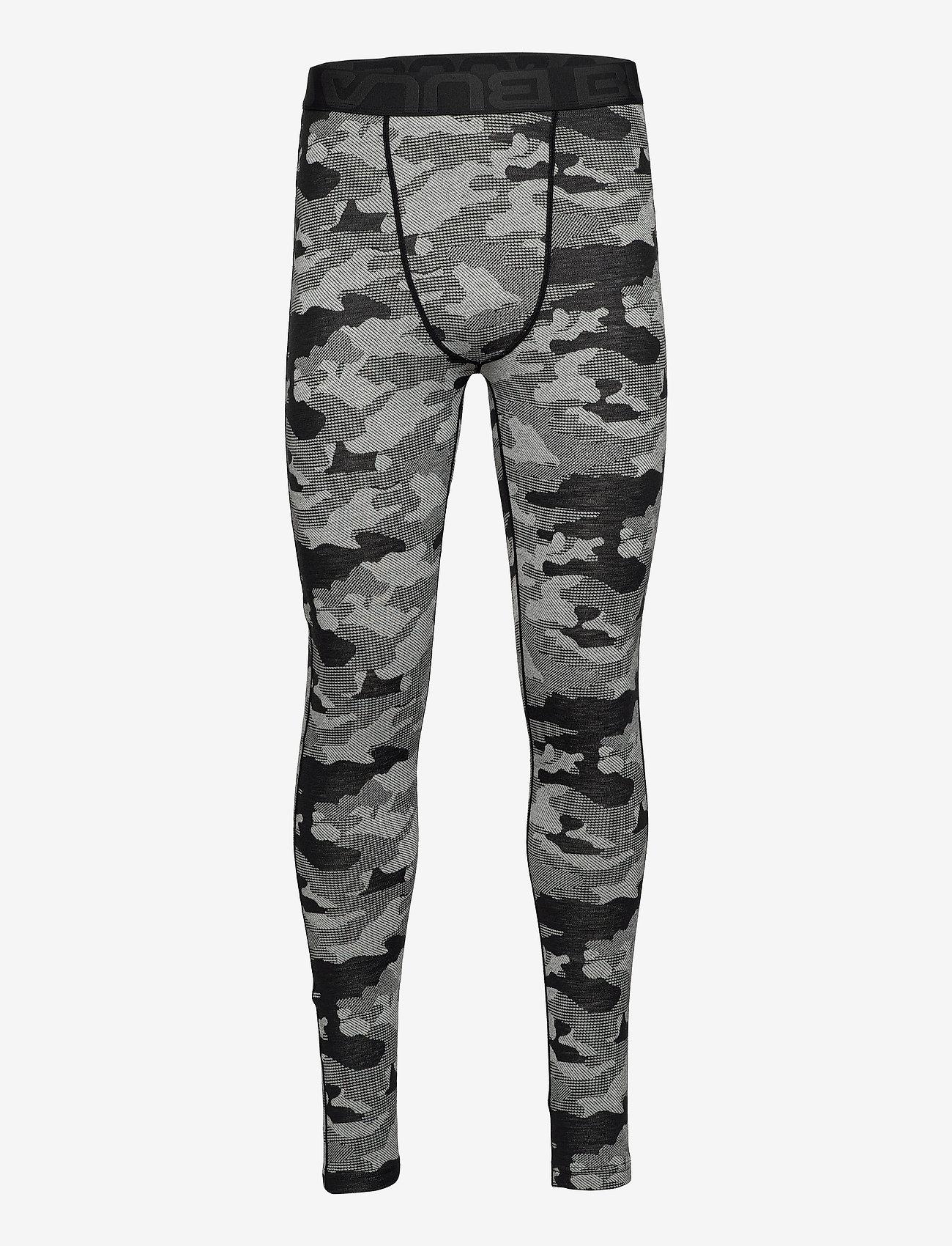 Bula - Camo Merino Wool Pants - funkionsunterwäsche - hosen - dgrey - 0