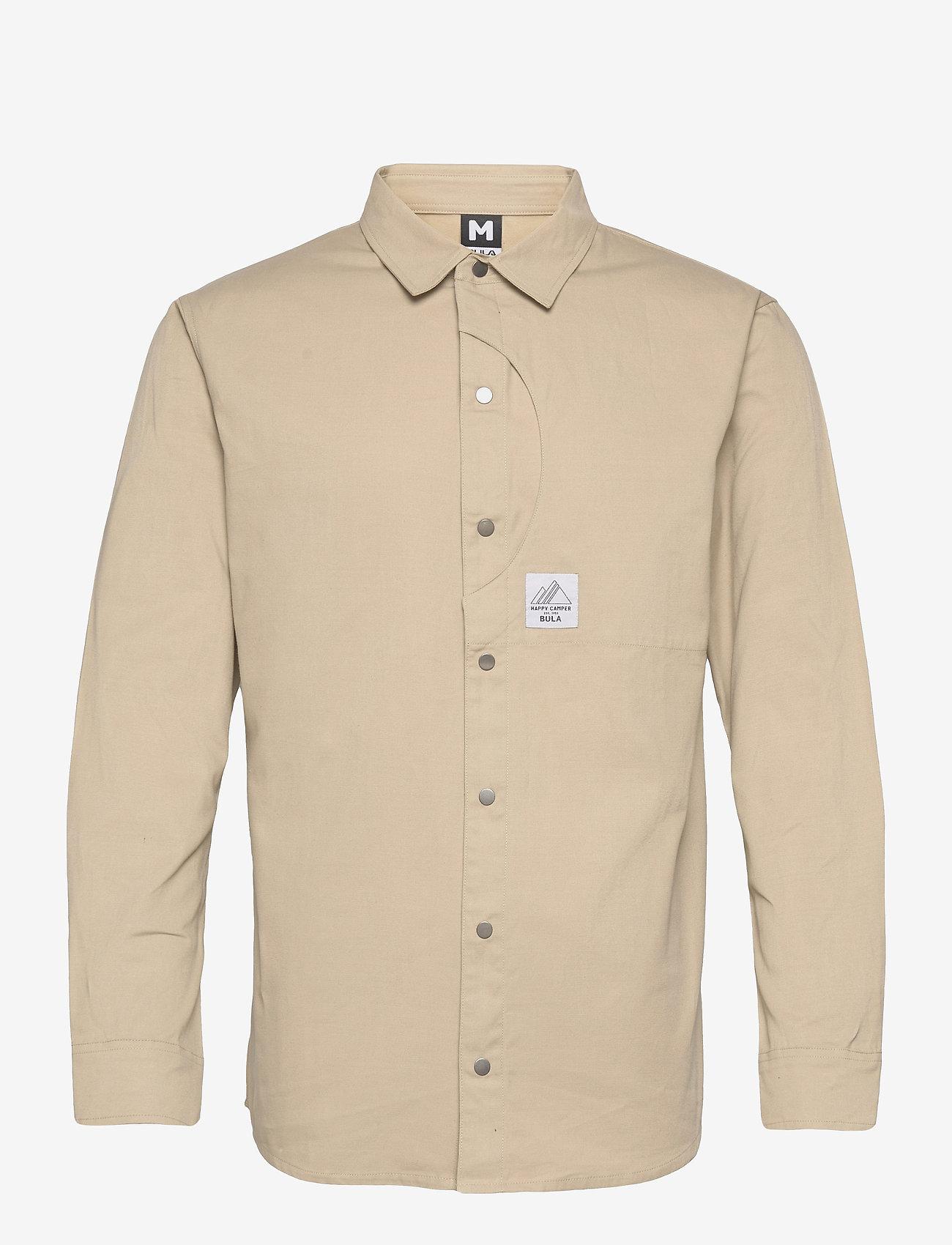 Bula - Camper LS Shirt - basic-hemden - chalk - 0