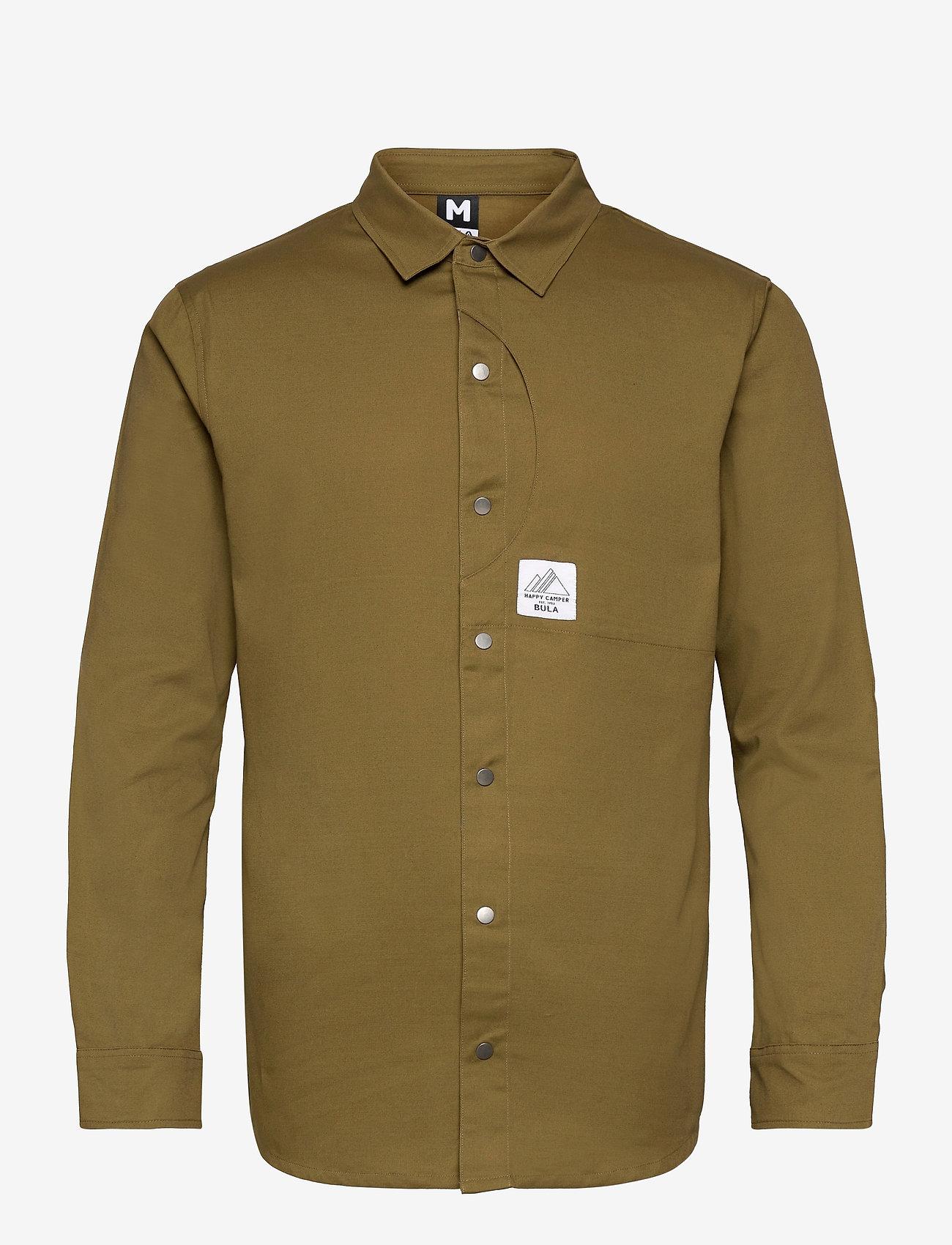 Bula - Camper LS Shirt - basic-hemden - moss - 0