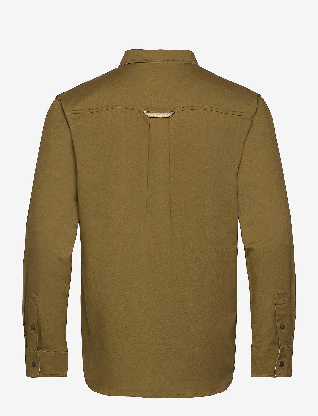 Bula - Camper LS Shirt - basic-hemden - moss - 1