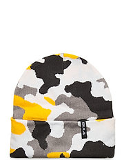 JR CAMO BEANIE - YELLOW