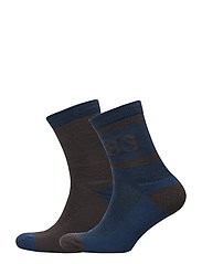 2PK Retro Wool Sock - DENIM