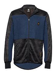 Camo Fleece Jacket - DENIM