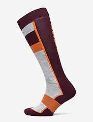 Retro Ski Sock - BURGND