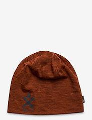 Bula - Pacific Merino Wool Beanie - bonnet - brick - 0
