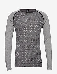 Bula - GEO MERINO WOOL CREW - base layer tops - greym - 1