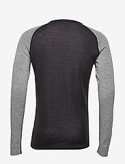Bula - GEO MERINO WOOL CREW - base layer tops - greym - 2