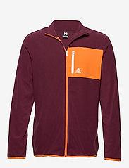 Bula - Fleece Jacket - fleece midlayer - burgnd - 0