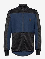 Bula - Camo Fleece Jacket - fleece midlayer - denim - 1