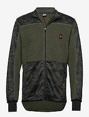 Bula - Camo Fleece Jacket - fleece midlayer - dolive - 0