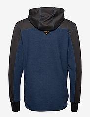 Bula - Fleece Zip Hood - fleece midlayer - denim - 2