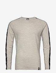 Bula - Tape Merino Wool Crew - funktionsunterwäsche - oberteile - greym - 0