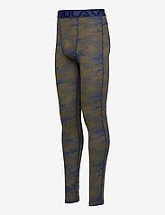 Bula - Camo Merino Wool Pants - funkionsunterwäsche - hosen - denim - 2
