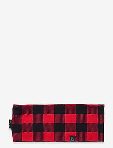 COTTON CHECK HEADBAND - bandeaux - red