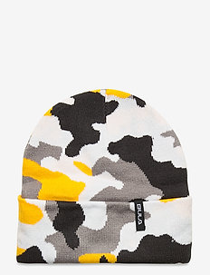 JR CAMO BEANIE - mössor - yellow