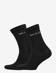 2PK LIGHT WOOL SOCK - BLACK