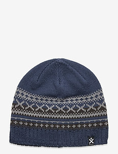Trad Wool Beanie - mössor - denim